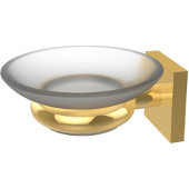Montero Collection Wall Mounted Soap Dish, Unlacquered Brass