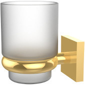 Montero Collection Wall Mounted Tumbler Holder, Polished Brass