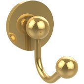 Prestige Skyline Collection Robe Hook, Unlacquered Brass