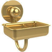 Prestige Skyline Collection Soap Dish w/Glass Liner, Standard Finish, Polished Brass