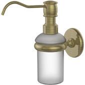Prestige Skyline Collection Wall Mounted Soap Dispenser, Premium Finish, Antique Brass