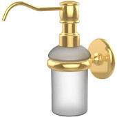 Prestige Skyline Collection Wall Mounted Soap Dispenser, Unlacquered Brass