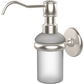 Prestige Skyline Collection Wall Mounted Soap Dispenser, Premium Finish, Satin Nickel
