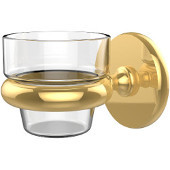 Prestige Skyline Collection Wall Mounted Votive Candle Holder, Standard Finish, Polished Brass