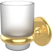 Prestige Skyline Collection Wall Mounted Tumbler Holder, Unlacquered Brass