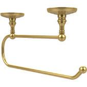 Prestige Monte Carlo Under Cabinet Paper Towel Holder, Unlacquered Brass