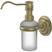Prestige Que New Collection Wall Mounted Soap Dispenser, Premium Finish, Antique Brass