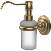 Prestige Que New Collection Wall Mounted Soap Dispenser, Premium Finish, Brushed Bronze
