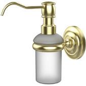 Prestige Que New Collection Wall Mounted Soap Dispenser, Premium Finish, Satin Brass
