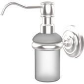 Prestige Que New Collection Wall Mounted Soap Dispenser, Premium Finish, Satin Chrome