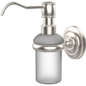 Prestige Que New Collection Wall Mounted Soap Dispenser, Premium Finish, Satin Nickel