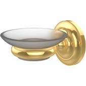 Prestige Que New Collection Wall Mounted Soap Dish, Unlacquered Brass