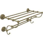 Prestige Que New Collection 36 Inch Train Rack Towel Shelf, Antique Brass