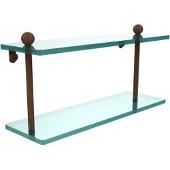 Prestige Regal Collection 16'' Double Glass Shelf, Premium Finish, Rustic Bronze