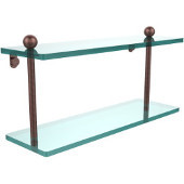 Prestige Regal Collection 16'' Double Glass Shelf, Premium Finish, Antique Copper
