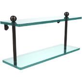 Prestige Regal Collection 16'' Double Glass Shelf, Premium Finish, Oil Rubbed Bronze