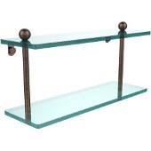 Prestige Regal Collection 16'' Double Glass Shelf, Premium Finish, Venetian Bronze