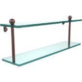 Prestige Regal Collection 22'' Double Glass Shelf, Premium Finish, Antique Copper