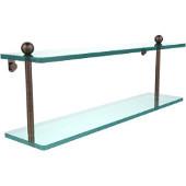 Prestige Regal Collection 22'' Double Glass Shelf, Premium Finish, Venetian Bronze