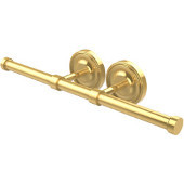Prestige Regal Collection Double Roll Toilet Tissue Holder, Unlacquered Brass