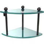 Prestige Regal Collection Double Corner Glass Shelf, Premium Finish, Oil Rubbed Bronze