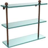 Prestige Regal Collection 16'' Triple Shelf, Premium Finish, Rustic Bronze