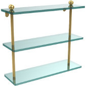 Prestige Regal Collection 16'' Triple Shelf, Standard Finish, Polished Brass