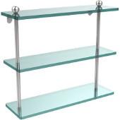 Prestige Regal Collection 16'' Triple Shelf, Standard Finish, Polished Chrome