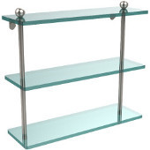 Prestige Regal Collection 16'' Triple Shelf, Premium Finish, Satin Nickel