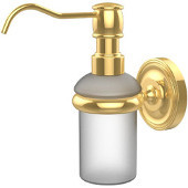 Prestige Regal Collection Wall Mounted Soap Dispenser, Unlacquered Brass