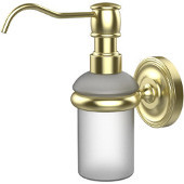 Prestige Regal Collection Wall Mounted Soap Dispenser, Premium Finish, Satin Brass