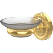 Prestige Regal Collection Wall Mounted Soap Dish Holder, Standard Finish, Polished Brass