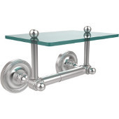 Prestige Regal Collection Two Post Toilet Tissue Holder with Glass Shelf, Satin Chrome