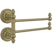 Prestige Regal Collection 2 Swing Arm Towel Rail, Antique Brass