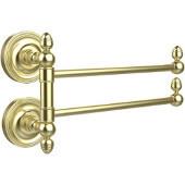 Prestige Regal Collection 2 Swing Arm Towel Rail, Satin Brass
