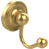 Prestige Regal Collection Robe Hook, Unlacquered Brass