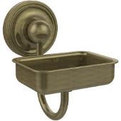 Prestige Regal Collection Soap Dish w/Glass Liner, Premium Finish, Antique Brass