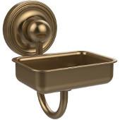 Prestige Regal Collection Soap Dish w/Glass Liner, Premium Finish, Brushed Bronze