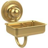 Prestige Regal Collection Soap Dish w/Glass Liner, Standard Finish, Polished Brass