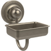 Prestige Regal Collection Soap Dish w/Glass Liner, Premium Finish, Antique Pewter