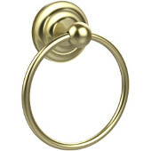 Que New Collection Towel Ring, Premium Finish, Satin Brass
