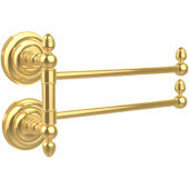 Que New Collection 2 Swing Arm Towel Rail, Unlacquered Brass