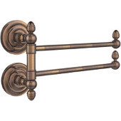 Que New Collection 2 Swing Arm Towel Rail, Venetian Bronze