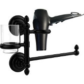 Que New Collection Hair Dryer Holder and Organizer, Matte Black
