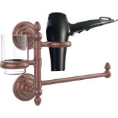 Que New Collection Hair Dryer Holder and Organizer, Antique Copper