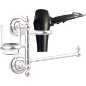 Que New Collection Hair Dryer Holder and Organizer, Satin Chrome