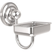 Que New Collection Soap Dish with Glass Liner, Standard Finish, Polished Chrome