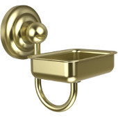 Que New Collection Soap Dish with Glass Liner, Premium Finish, Satin Brass