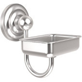 Que New Collection Soap Dish with Glass Liner, Premium Finish, Satin Chrome