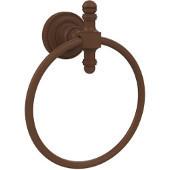 Retro-Dot Collection Towel Ring, Premium Finish, Rustic Bronze